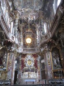 Inside Asam's Church