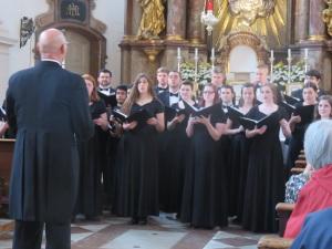 University of Mount Union Choir in St Sebastian's church