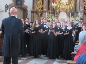 University of Mount Union Choir in St Sebastian's church