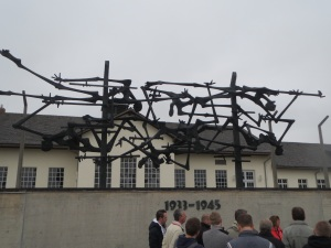 Facing museum, Dachau