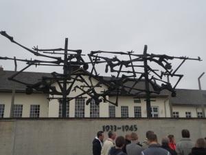 Facing museum, Dachau