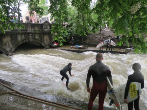 Surfing on the Eisbach