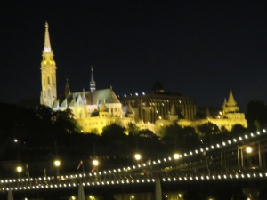 Chain Bridge looking towards St Matthias Church on Buda Hill