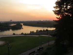 Sava and Duna rivers meeting at Beograd