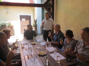 Wine tasting at Ilok Monastery and Vineyard, Croatia