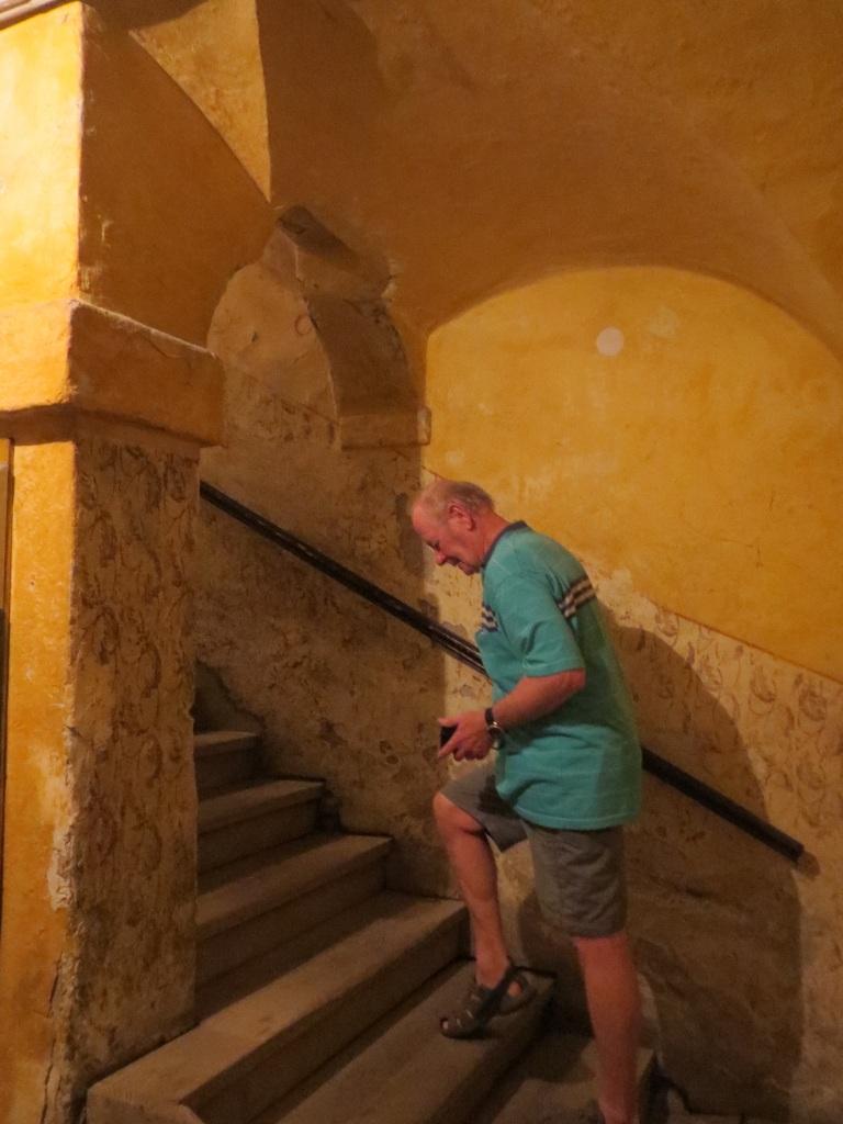 Ancient wooden stairwell