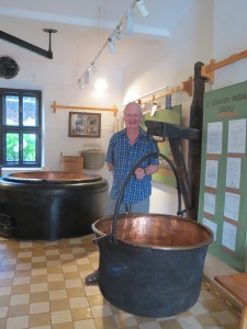 Fred at the cheese making museum Stara Fuzina