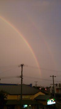 Rainbows after major storm