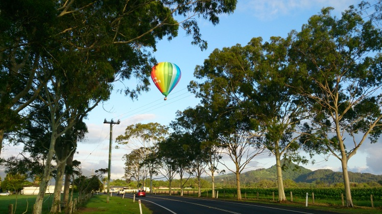 Balloon over Mullumbimby