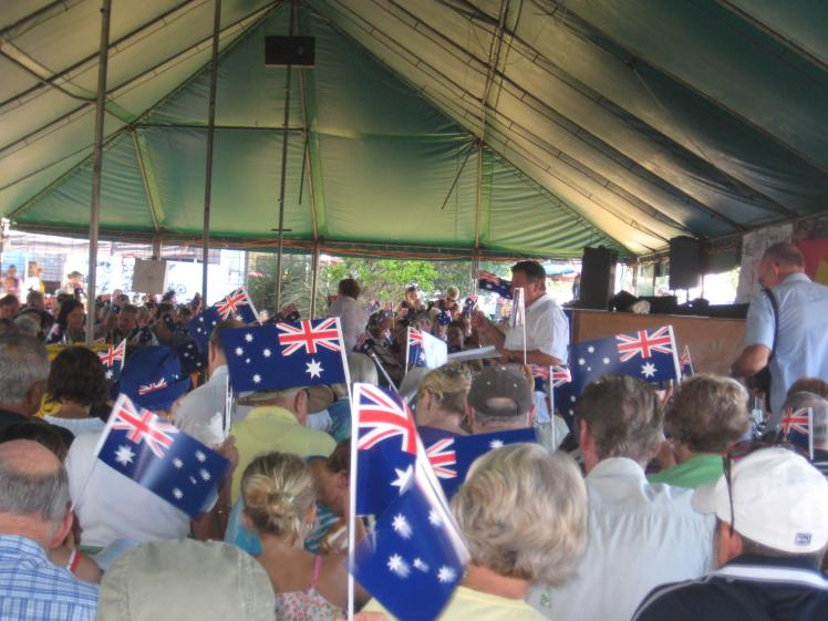 Brunswick Heads Australia Day singalong