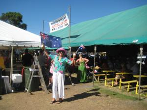 Australia Day at the Brunswick Heads Housie tent
