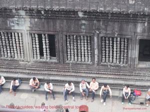 Guides waiting at central tower, Angkor Wat