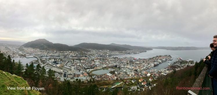 View from Mt Floyen, Bergen