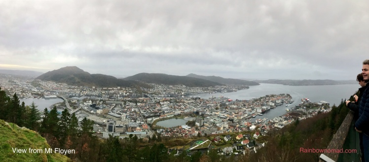 View from Mt Floyen, Bergen