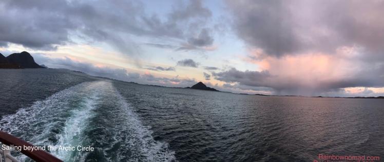Sailing over the Arctic Circl