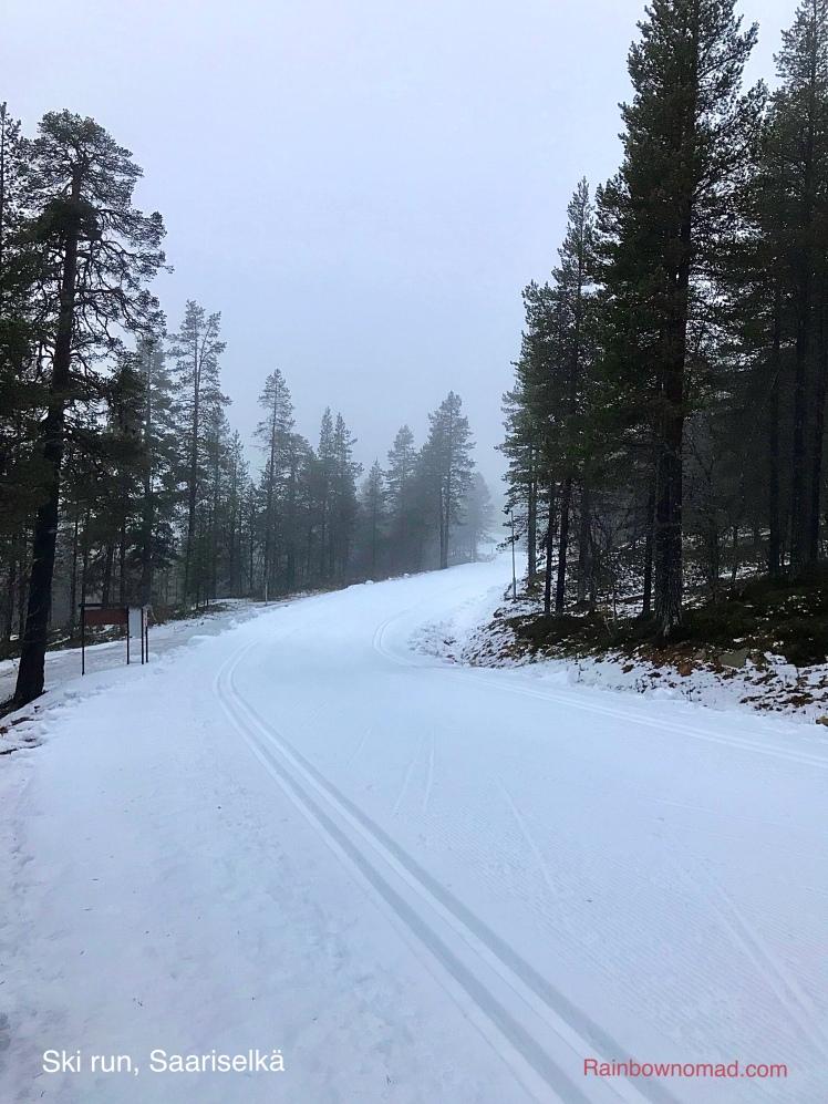 Ski run Saariselkä