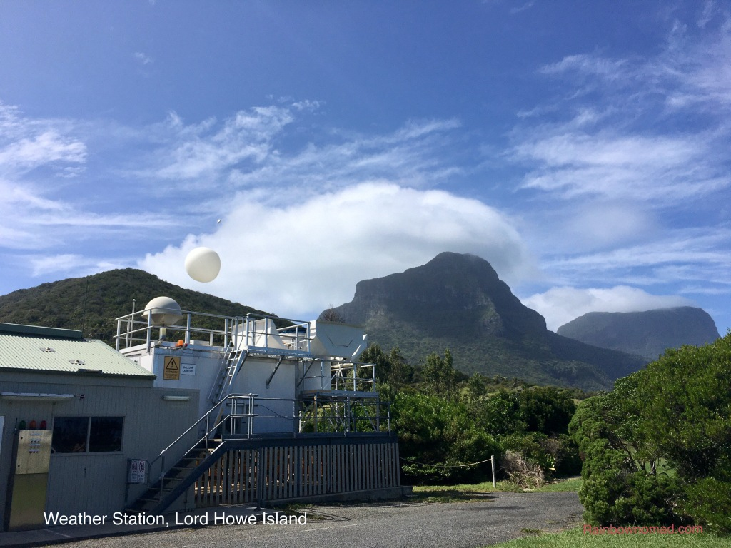 Lord Howe Island daily weather balloon, at Meteorological Station